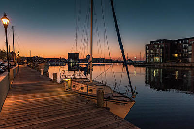 Fells Point Photograph - Harbor Sunrise 2 by Jim Archer