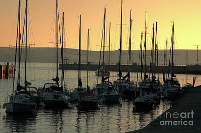 Photograph - Harbor Sunrise by Baggieoldboy