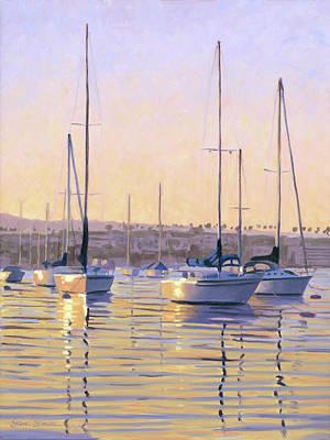 Painting - Harbor Sunrise by Steve Simon
