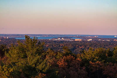 Photograph - Harbor Sunset From The Blue Hills by Brian MacLean