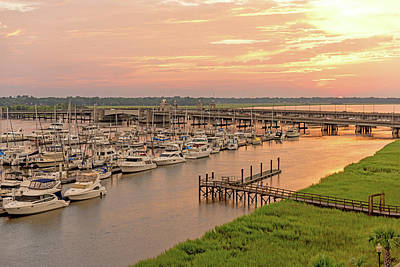 Photograph - Harbor Sunset In Charleston by Willie Harper