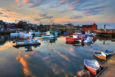 Photograph - Harbor Sunset In Rockport Ma by Joann Vitali