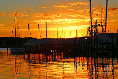 Photograph - Harbor Sunset by Marty Fancy
