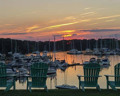 Photograph - Harbor Sunset by Steve Atkinson