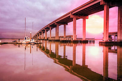 Photograph - Harbor Under The Bridge by Debra and Dave Vanderlaan