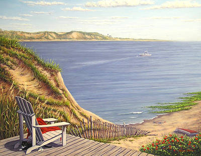 Cape Cod Painting - Harbor View by Elaine Farmer