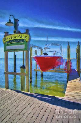 Harbor Walk At Destin Florida # 6 Art Print