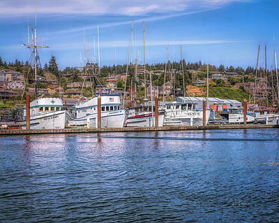 Photograph - Harbor Whites by Bill Posner