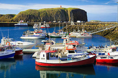 Photograph - Harbor With Boats In Stykkisholmur Iceland by Matthias Hauser