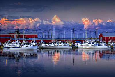 Photograph - Harbor With Fishing Fleet In Cascumpec Bay by Randall Nyhof