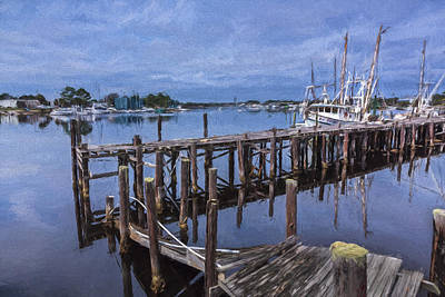 Digital Art - Harbor Work II by Jon Glaser