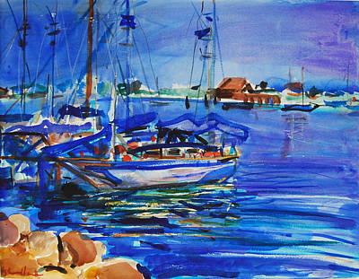 Painting - Harbor  by Zolita Sverdlove