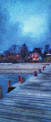Harbormasters Office Owen Park Print by Jeffrey Canha