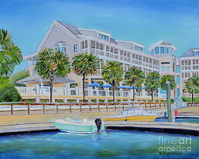 Painting - Harborside Marina by Shelia Kempf
