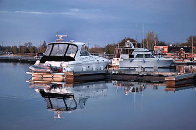 Digital Art - Harbour At Dawn by JGracey Stinson