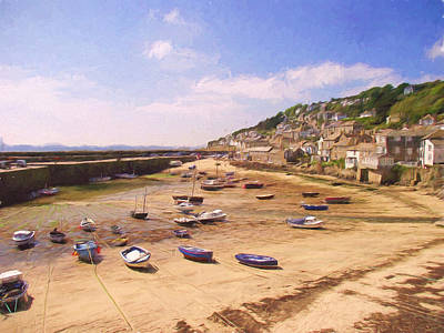 Harbour At Low Tide - Mousehole Art Print