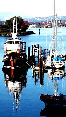 Photograph - Harbour Boats by Nikki Dalton