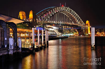 Photograph - Harbour Bridge From Circular Quay By Kaye Menner by Kaye Menner
