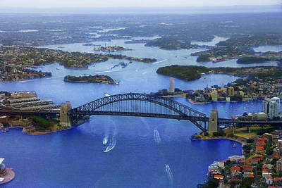Photograph - Harbour Bridge From Helicopter Flight by Miroslava Jurcik