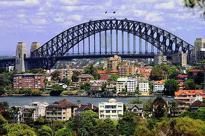 Photograph - Harbour Bridge - View From The Zoo by Miroslava Jurcik