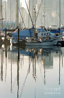 Photograph - Harbour Fishboats by Frank Townsley