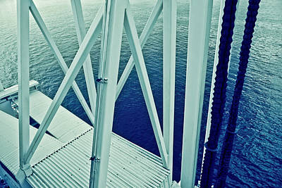 Metallic Sheets Digital Art - Harbour Grids by Jarmila Kostliva