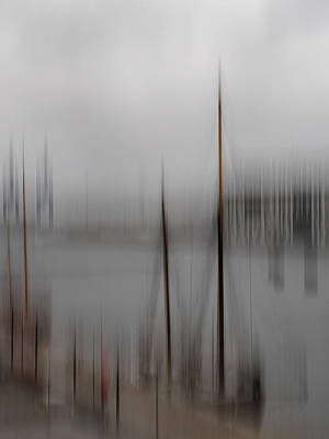 Harbour In The Fog Art Print by Inge Riis McDonald