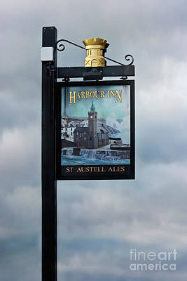 Photograph - Harbour Inn Sign Porthleven Cornwall by Terri Waters