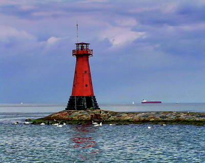 Photograph - Harbour Lighthouse by Anthony Dezenzio