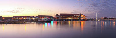 Print featuring the photograph Harbour Lights, Hillarys Boat Harbour by Dave Catley