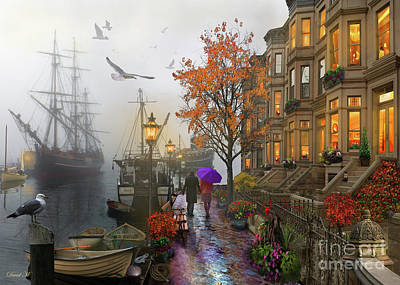 Fall Leaves Digital Art - Harbour by MGL Meiklejohn Graphics Licensing