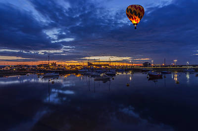 Photograph - Harbour Night Flight by Ian Mitchell