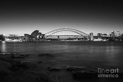 Photograph - Harbour Nights In Bw  by Andrew Paranavitana