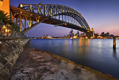 Syndey Photograph - Harbour Nights by Renee Doyle
