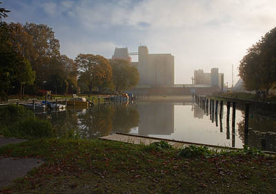 Photograph - Harbour October by Leif Sohlman
