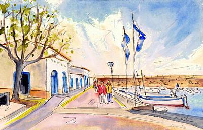 Painting - Harbour Of Cala Ratjada 01 by Miki De Goodaboom
