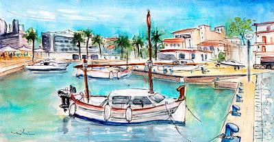 Painting - Harbour Of Cala Ratjada 02 by Miki De Goodaboom