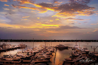 Photograph - Harbour Sunsent by Robert Smith