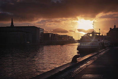 Photograph - Harbour Sunset Copenhagen by Carol Japp
