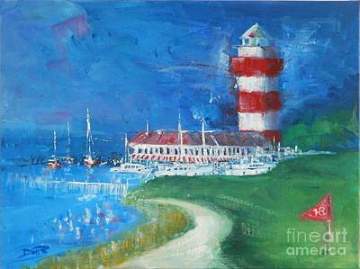 Head Harbour Lighthouse Painting - Harbour Town 18 by Dan Campbell
