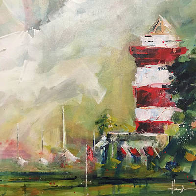 Head Harbour Lighthouse Painting - Harbour Town by Dave Baysden
