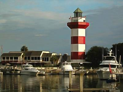 Photograph - Harbour Town Light Hilton Head South Carolina by Harbour Town Light Hilton Head South Carolina