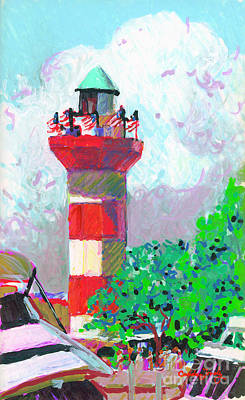Painting - Harbour Town Light House by Candace Lovely