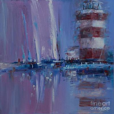 Head Harbour Lighthouse Painting - Harbour Town Sail by Dan Campbell