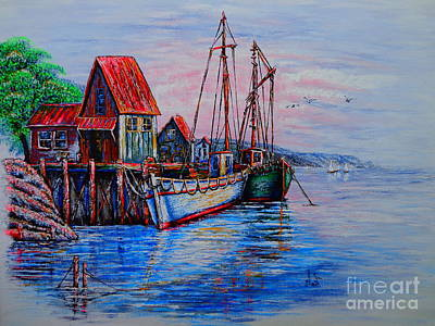 Painting - Harbour by Viktor Lazarev