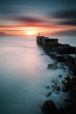 Photograph - Harbour Wall by Mark Leader