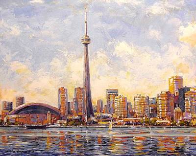 Painting - Harbourfront To by Maxim Grunin