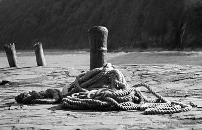Photograph - Harbourside Bollard by Helen Northcott