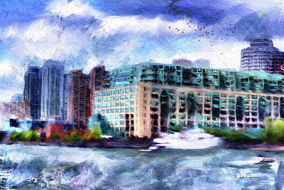 Digital Art - Harbourside by Nicky Jameson