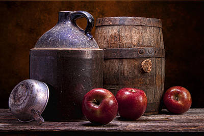 Crock Photograph - Hard Cider Still Life by Tom Mc Nemar